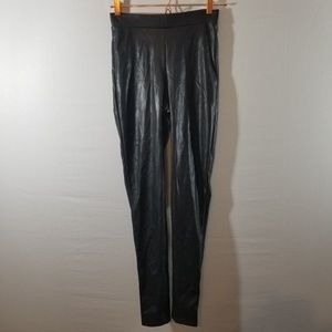 Express Pants - Express Black Faux Leather Stretch Pants Size S